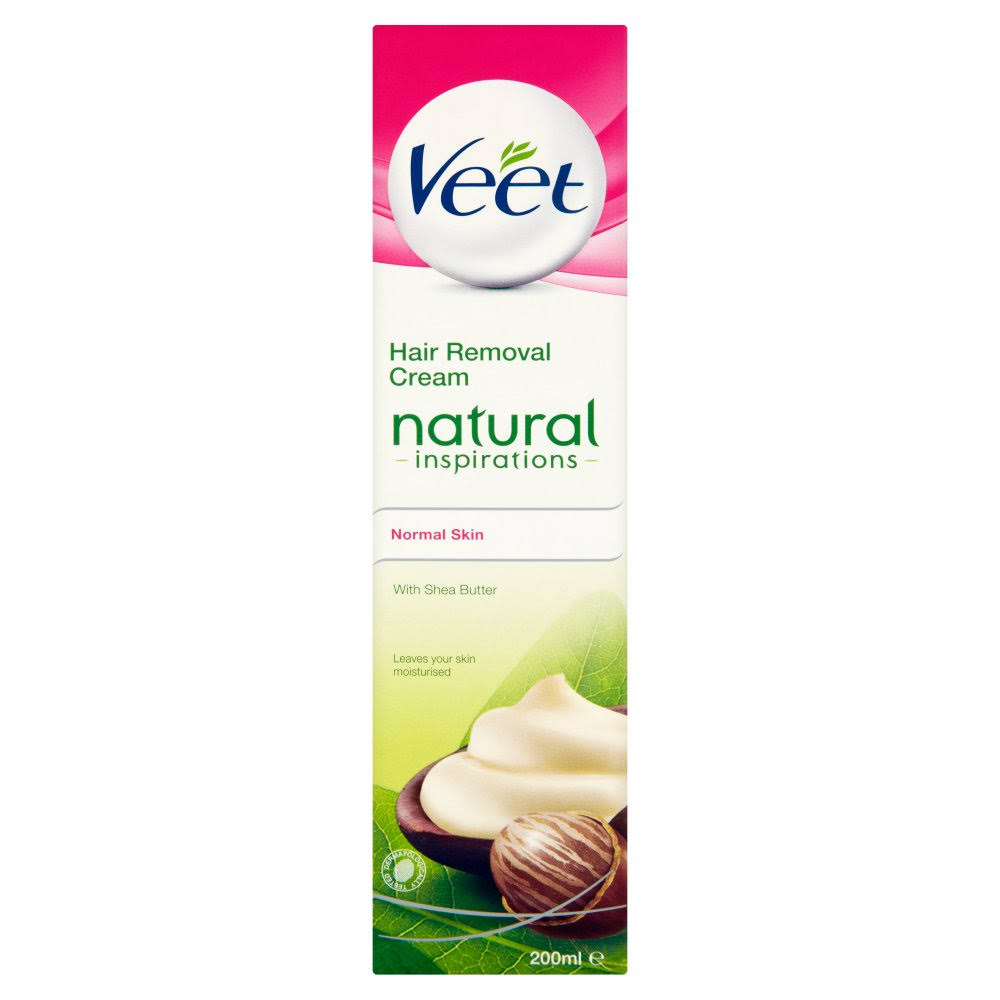 Veet Natural Inspirations Hair Removal Cream - Normal Skin with Shea Butter, 200ml