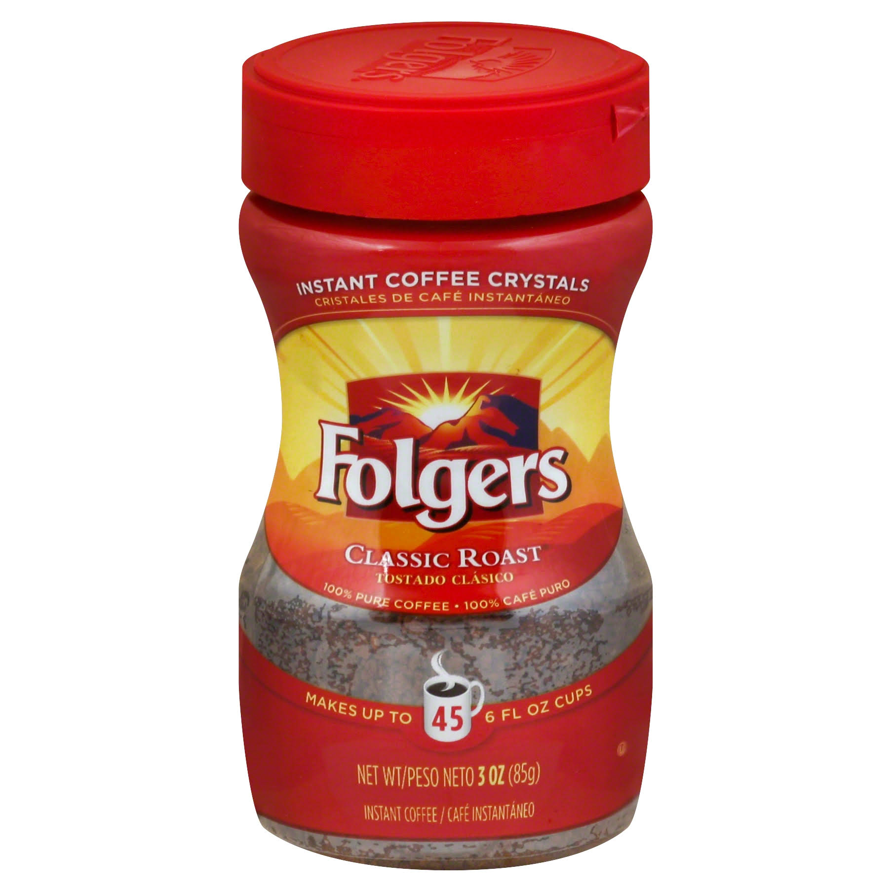 Folgers Classic Roast Instant Coffee - 3oz