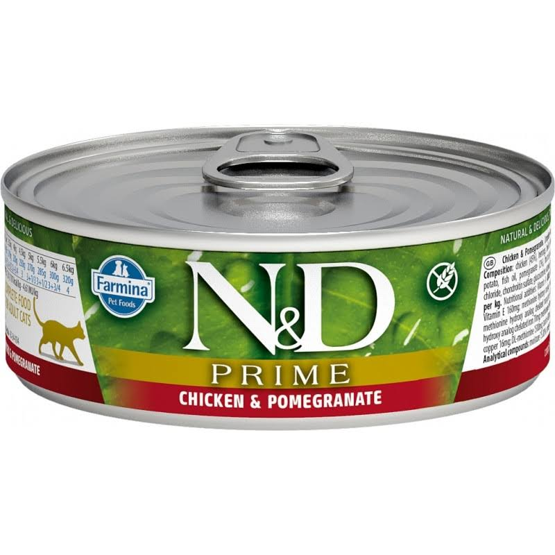 Farmina N&D Grain Free Prime Cat Food - Chicken and Pomegranate, 80g