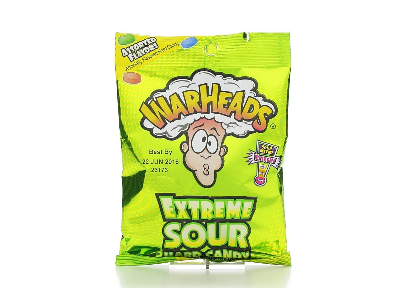 WarHeads Extreme Sour Hard Candy - 2oz