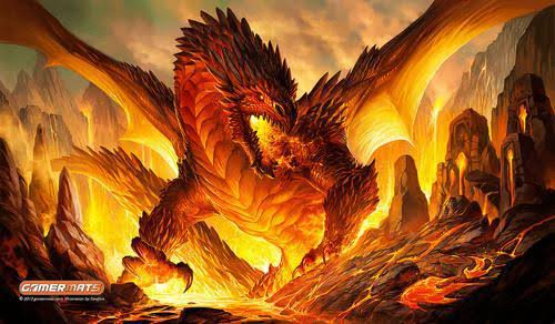 Gamermats - The Fire Bringer Dragon by sandara