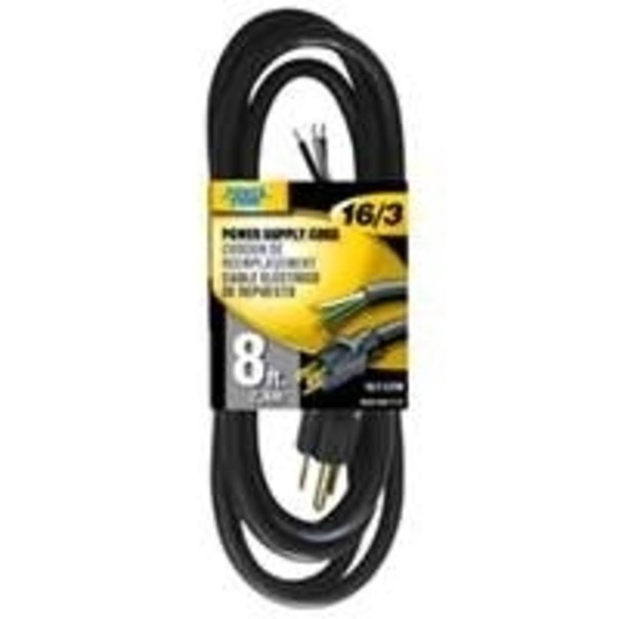 Power Zone Power Supply Cord - Black, 8ft