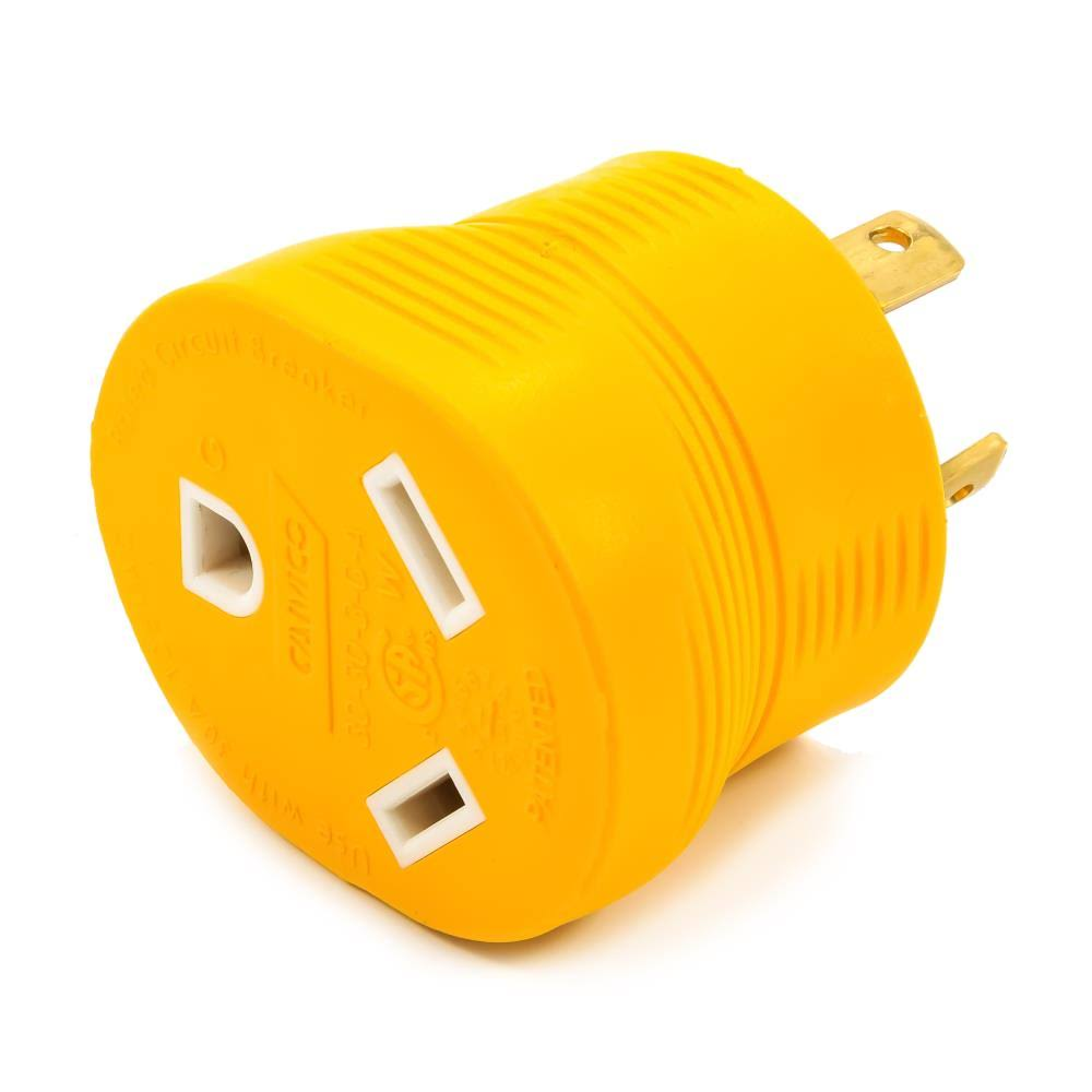 Camco 55333 Generator Adapter - Yellow, 30 AMP, 3 Prong