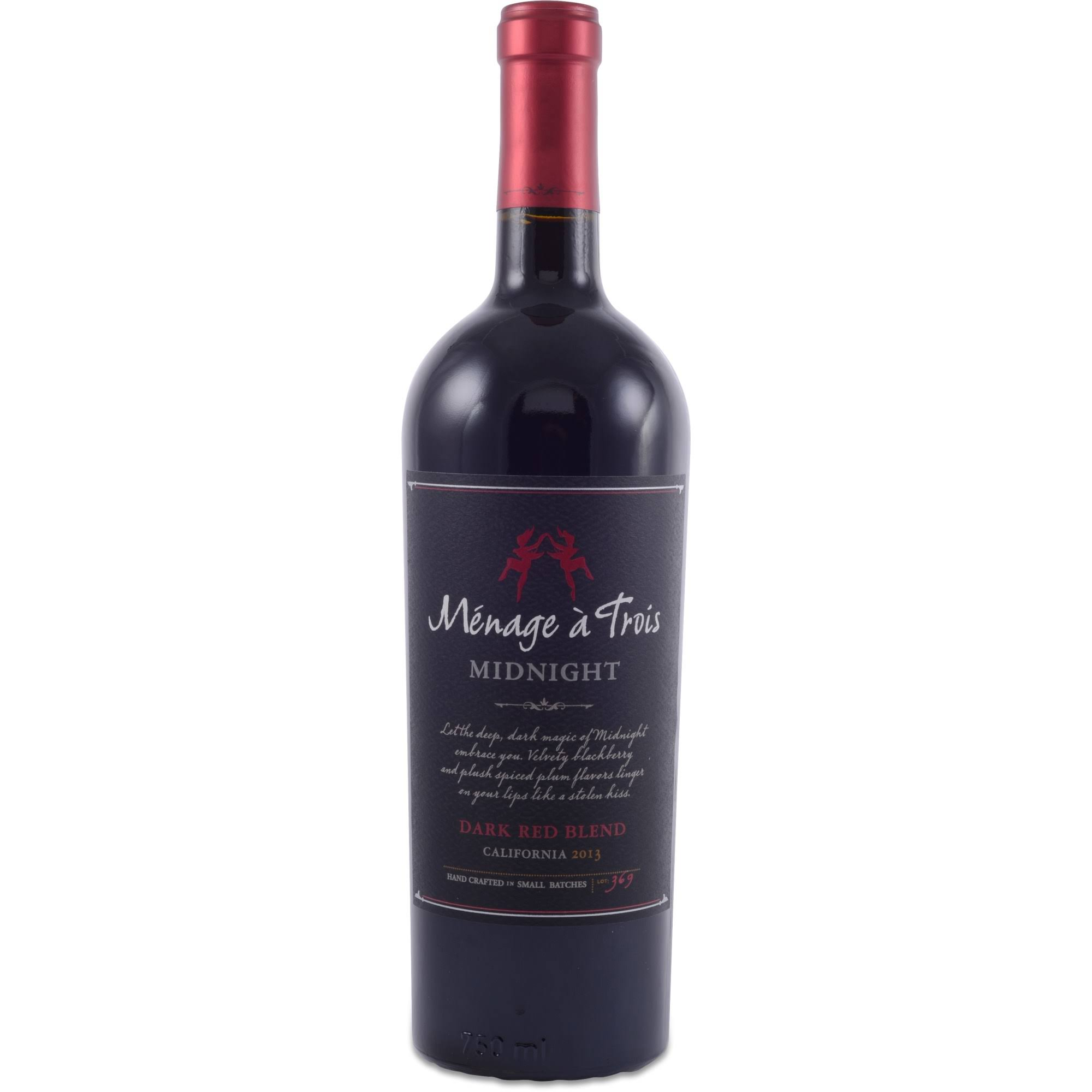 Ménage A Trois Midnight Dark Red Wine Blend - California