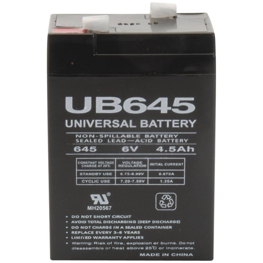 UPG UB645 Sealed Lead Acid Batteries - 6V, 4.5ah
