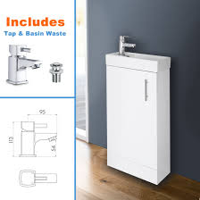 Ebay Bathroom Vanity With Sink by White Bathroom Vanity Unit Ceramic Basin Sink Oak Ebony Storage