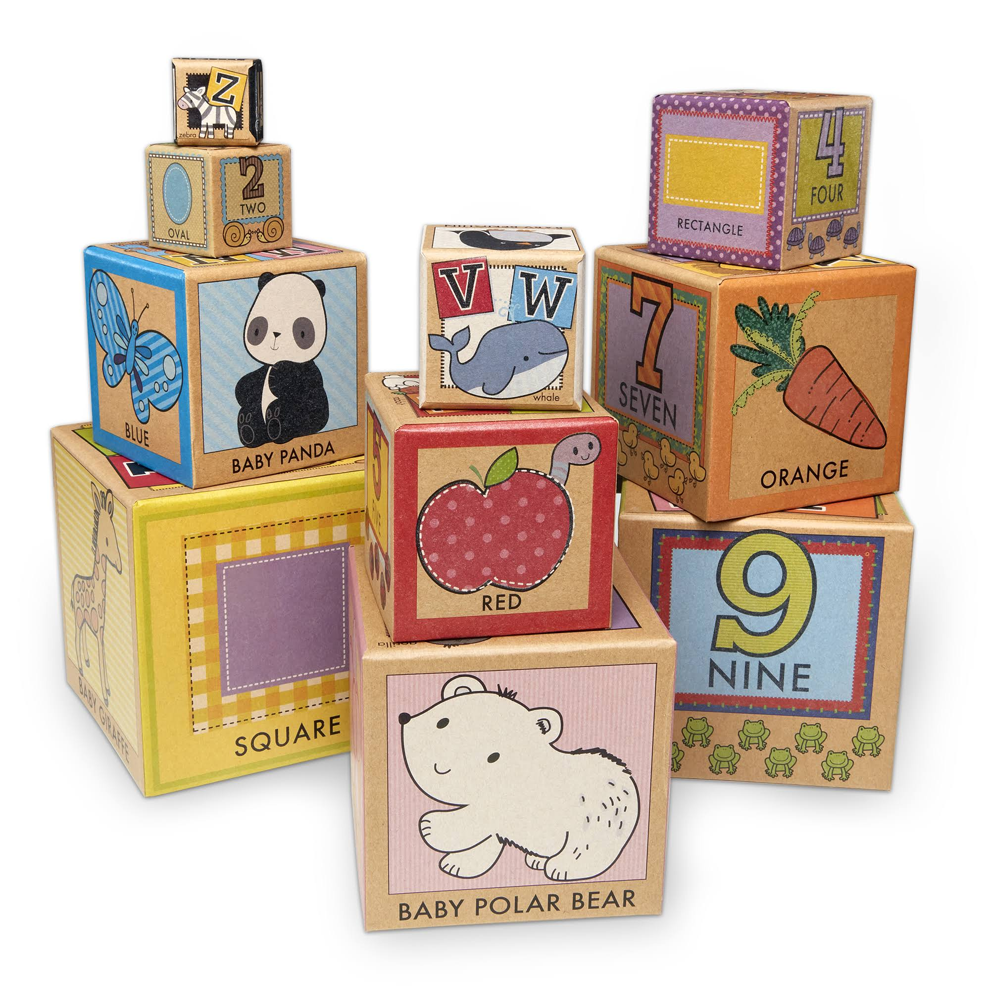 Melissa & Doug Natural Play Learning, Stacking and Nesting Blocks