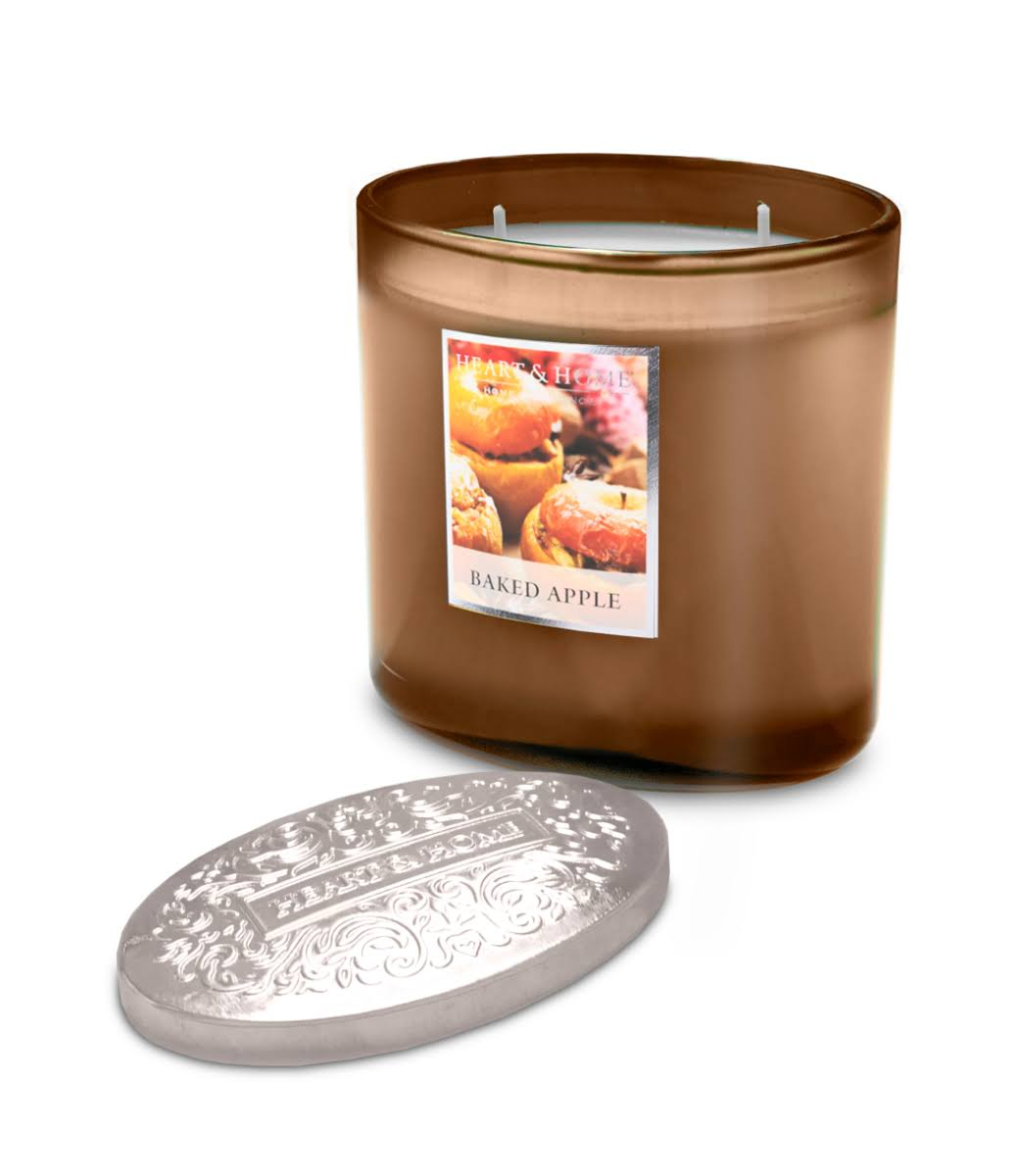 Heart and Home Scented Ellipse Candle - Baked Apple, 2 Wick