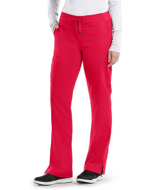 Grey's Anatomy 6-Pocket Tie Front Scrub Pant - Scarlet Red XS Regular