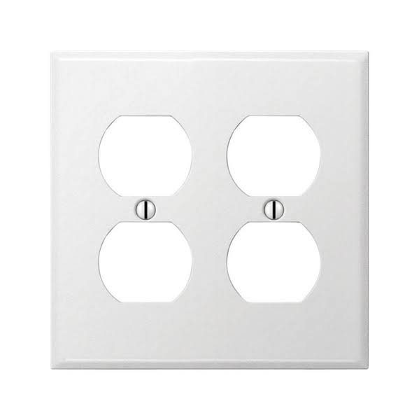 Amerelle Pro Stamped Steel Outlet Wall Plate