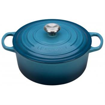 Le Creuset Signature Enameled Cast-iron Round Dutch Oven - Marine, 5-1/2qt