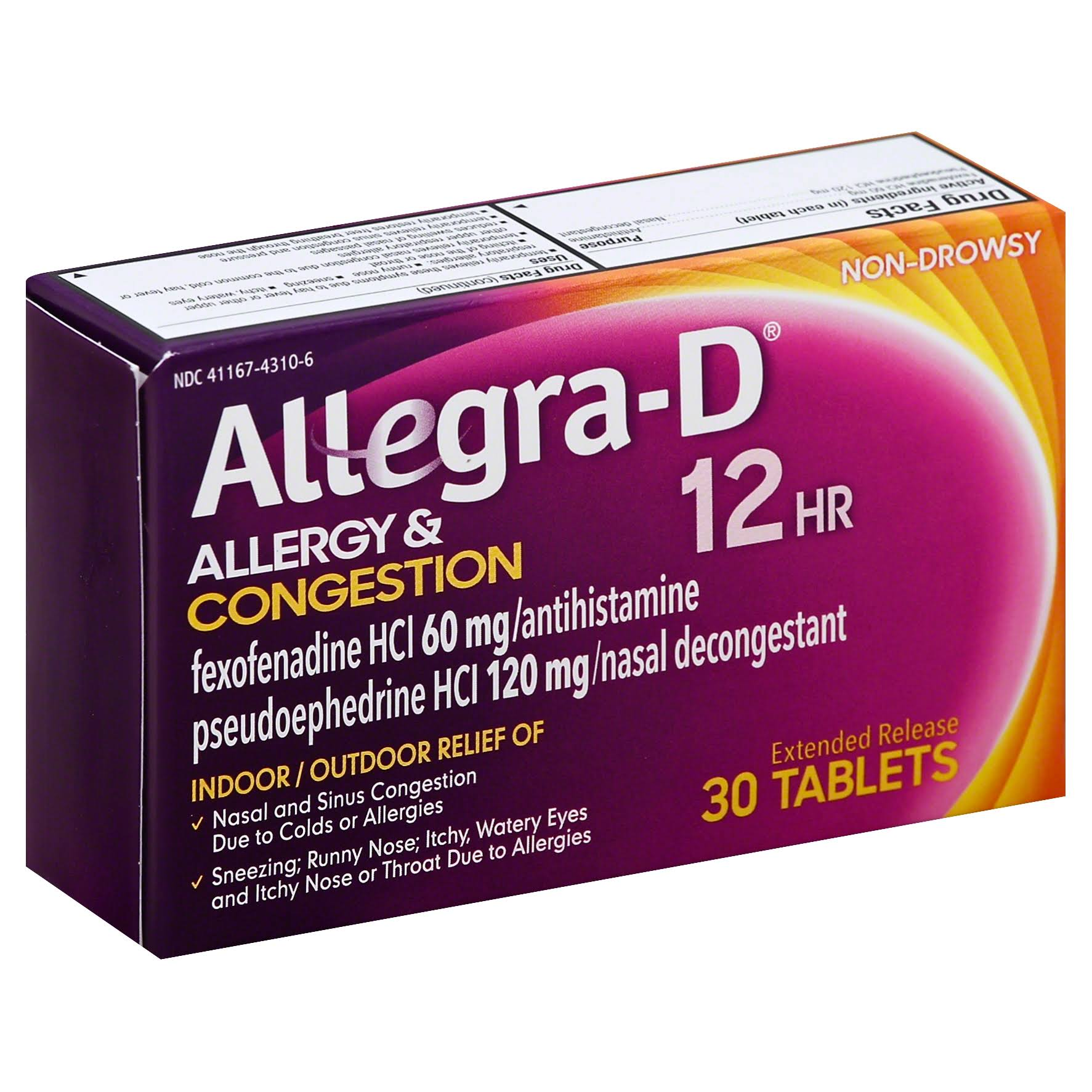 Allegra-D 12 Hour Allergy & Congestion - 30 tablets