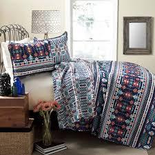Southwest Decoratives Quilt Shop by Amazon Com Lush Decor Navajo 3 Piece Quilt Set King Navy