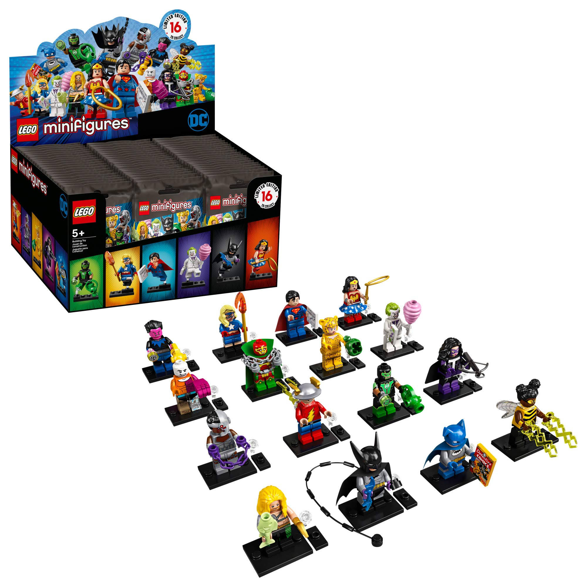 Lego DC Super Heroes Sealed Box Case Minifigures - 60ct