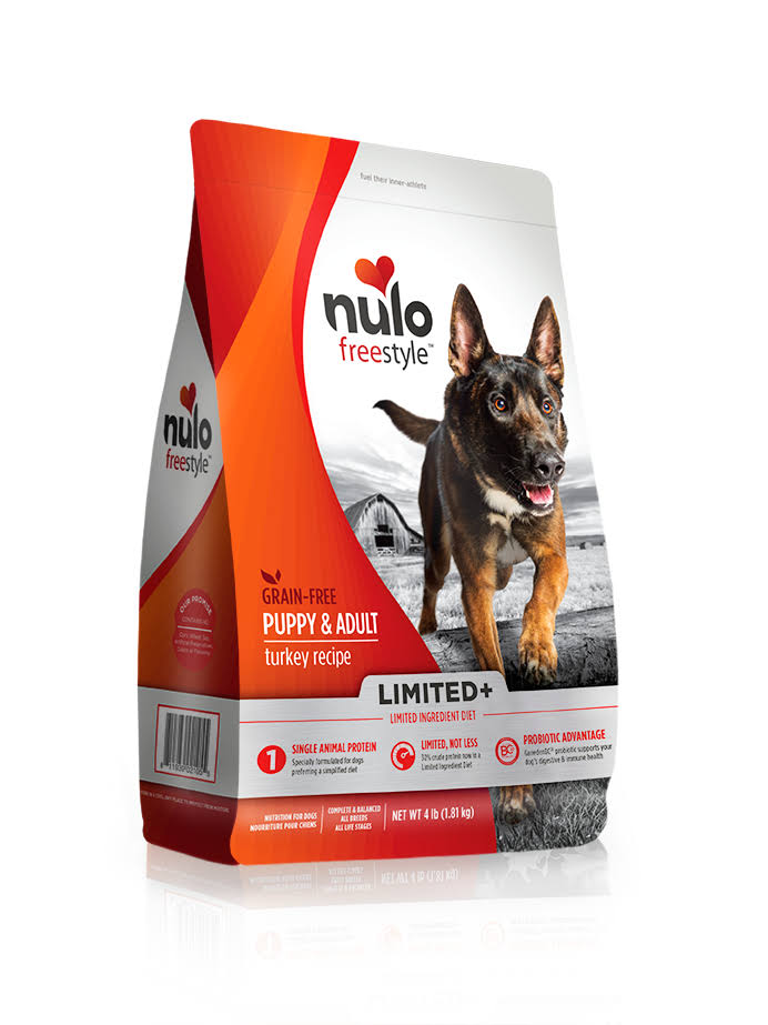 Nulo Freestyle Limited Ingredient Grain Free Dry Dog Food, Turkey / 4 lb
