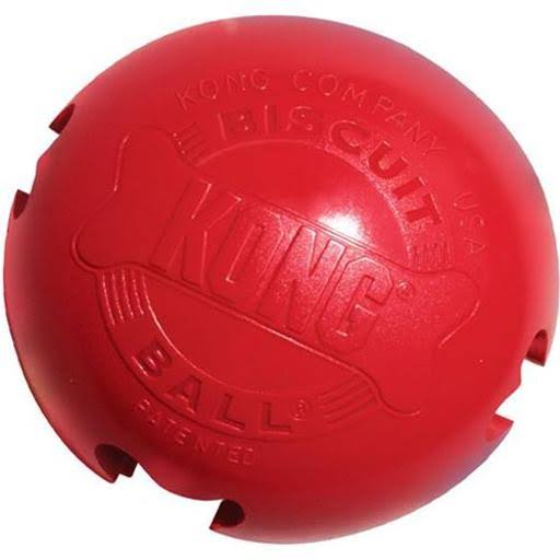 Kong Biscuit Ball Dog Toy - Red