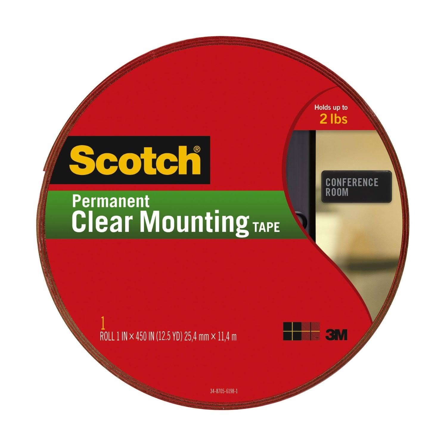 Scotch Permanent Heavy Duty Mounting Tape - 2.1yds