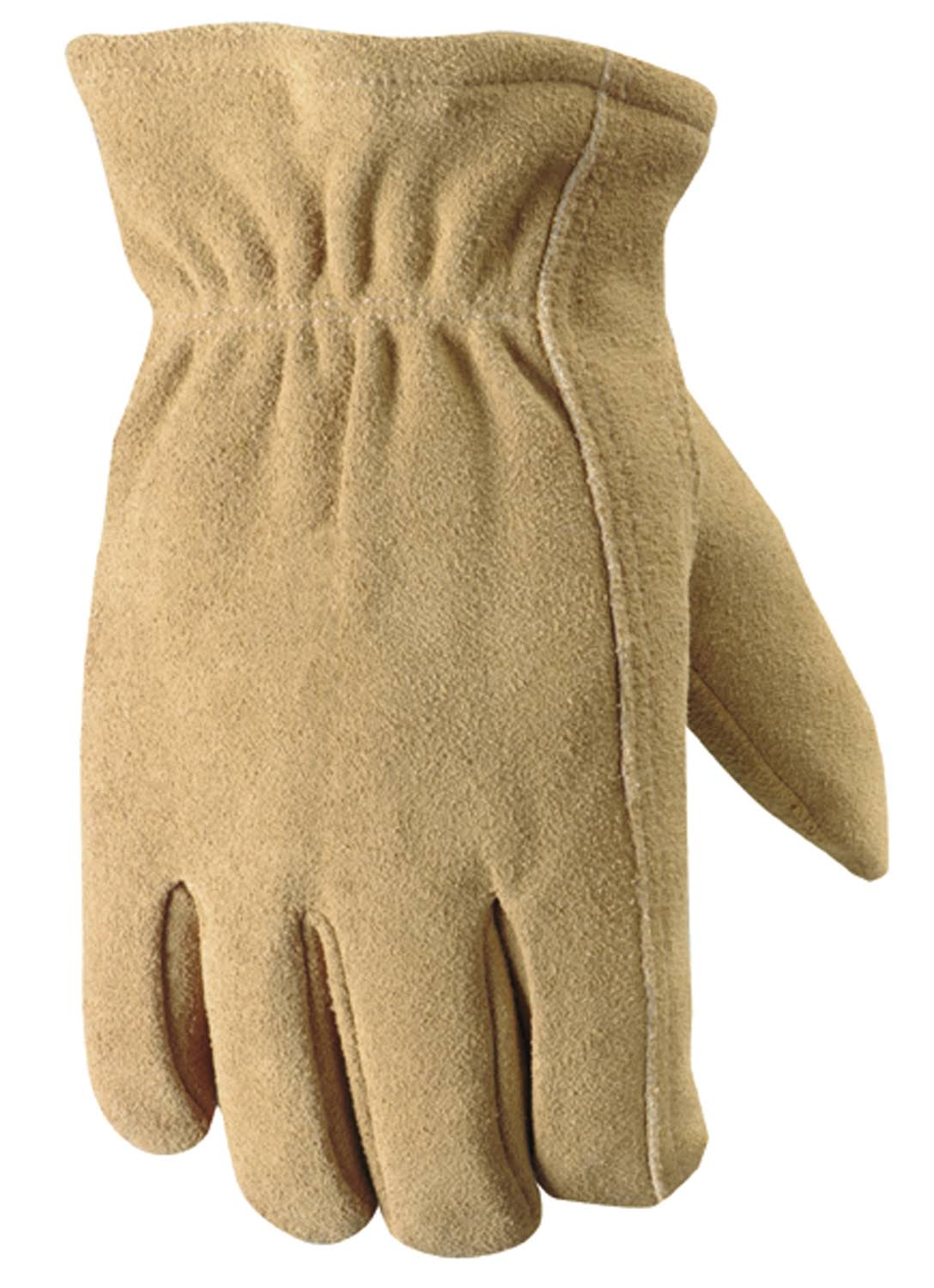 Wells Lamont 1091l Work Gloves - Timber Split Deerskin, Large