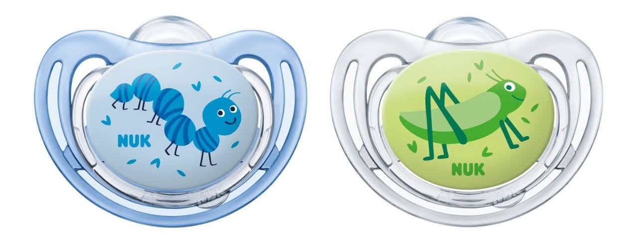 NUK Orthodontic Silicone Soother Freestyle with Ring 6-18m (10.520.296