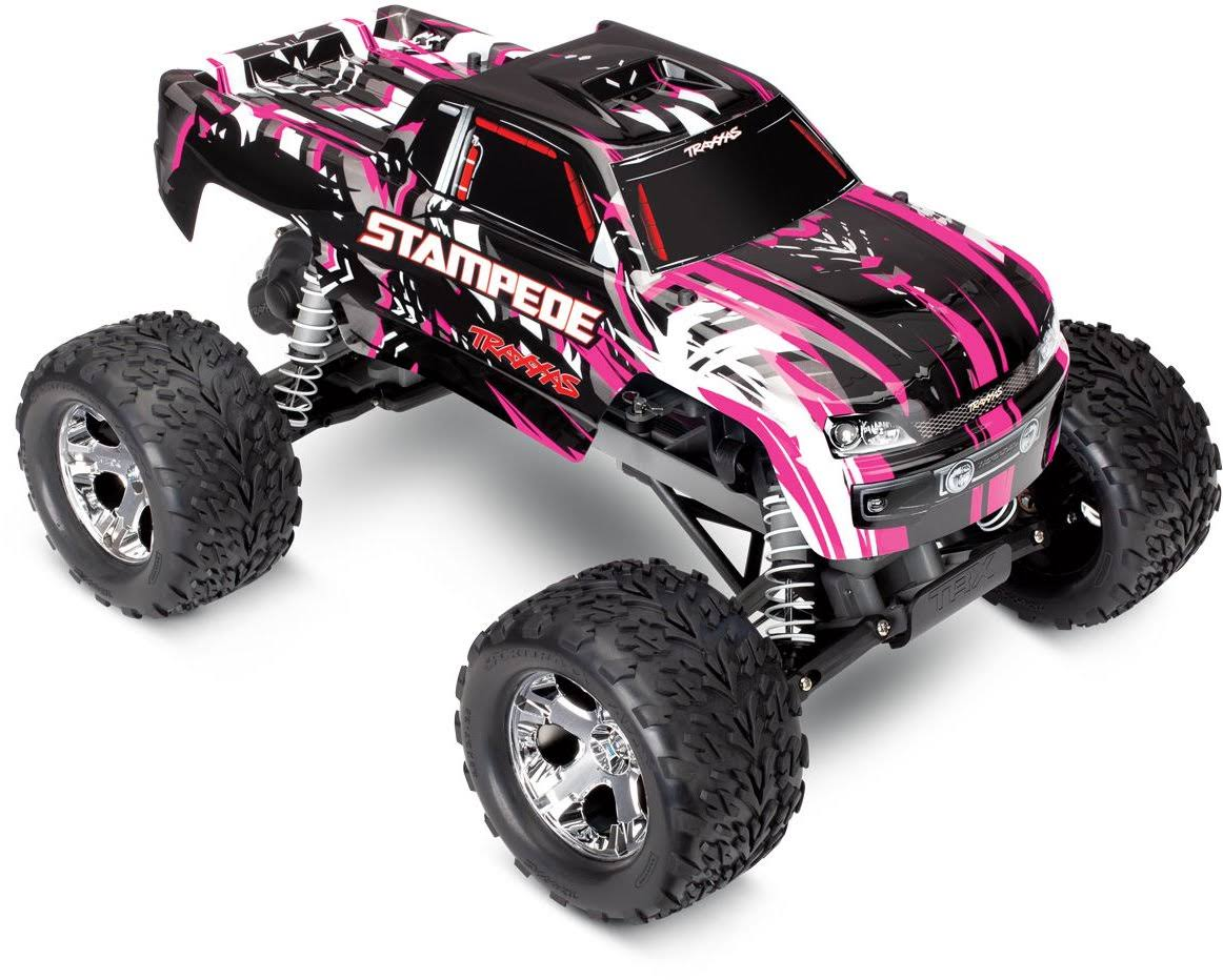 Traxxas TRA36054-1 PinkX Stampede 2WD Monster Truck RTR w/ Battery & Charger