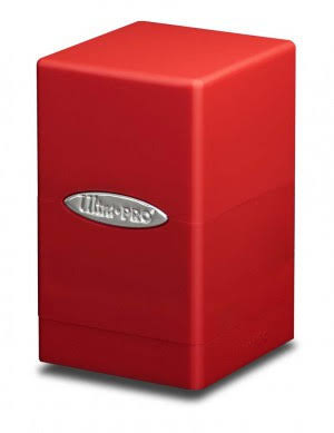 Ultra Pro Satin Tower Deck Box, Red
