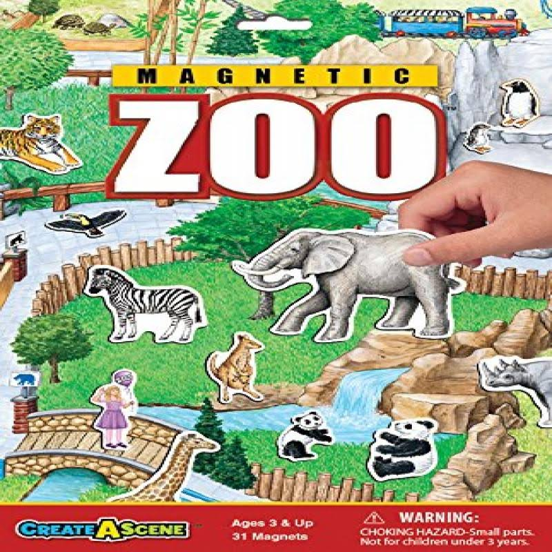 Create-A-Scene Magnetic Playset Zoo