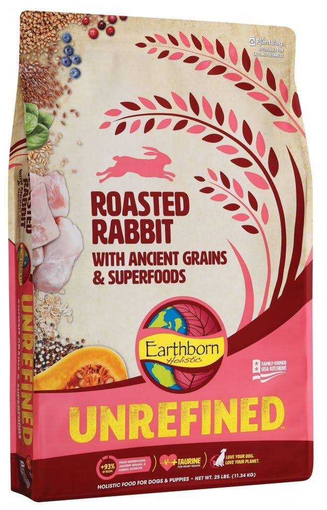 Earthborn Holistic Unrefined Roasted Rabbit with Ancient Grains & Superfoods Dry Dog Food, 12.5-lb