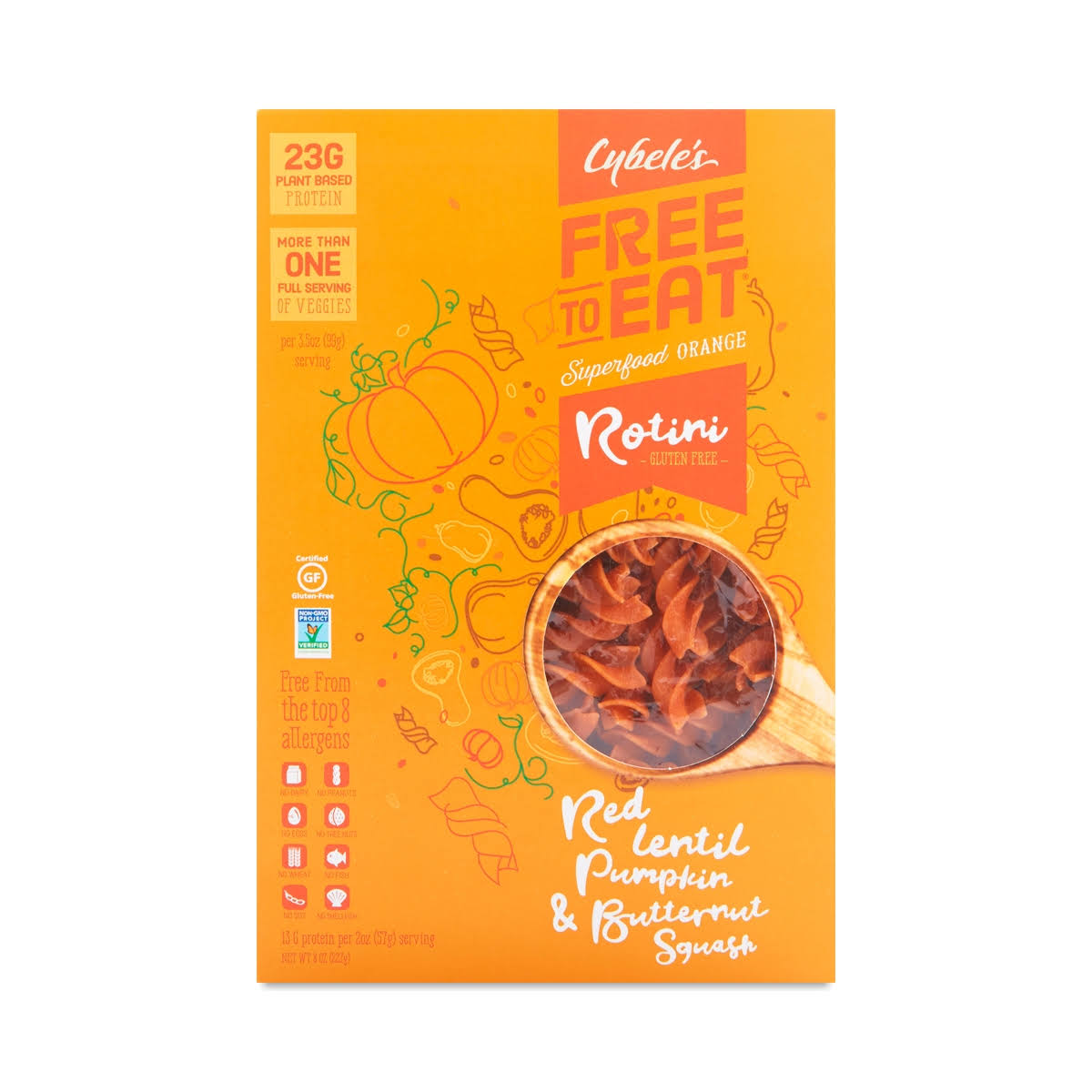 Cybele's Free to Eat Superfood Veggie Pasta - Superfood Orange, 223g