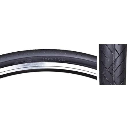 "Sunlite Bicycle Flat Shield Road Clincher Tire - Black, 27"" X 1 1/4"""
