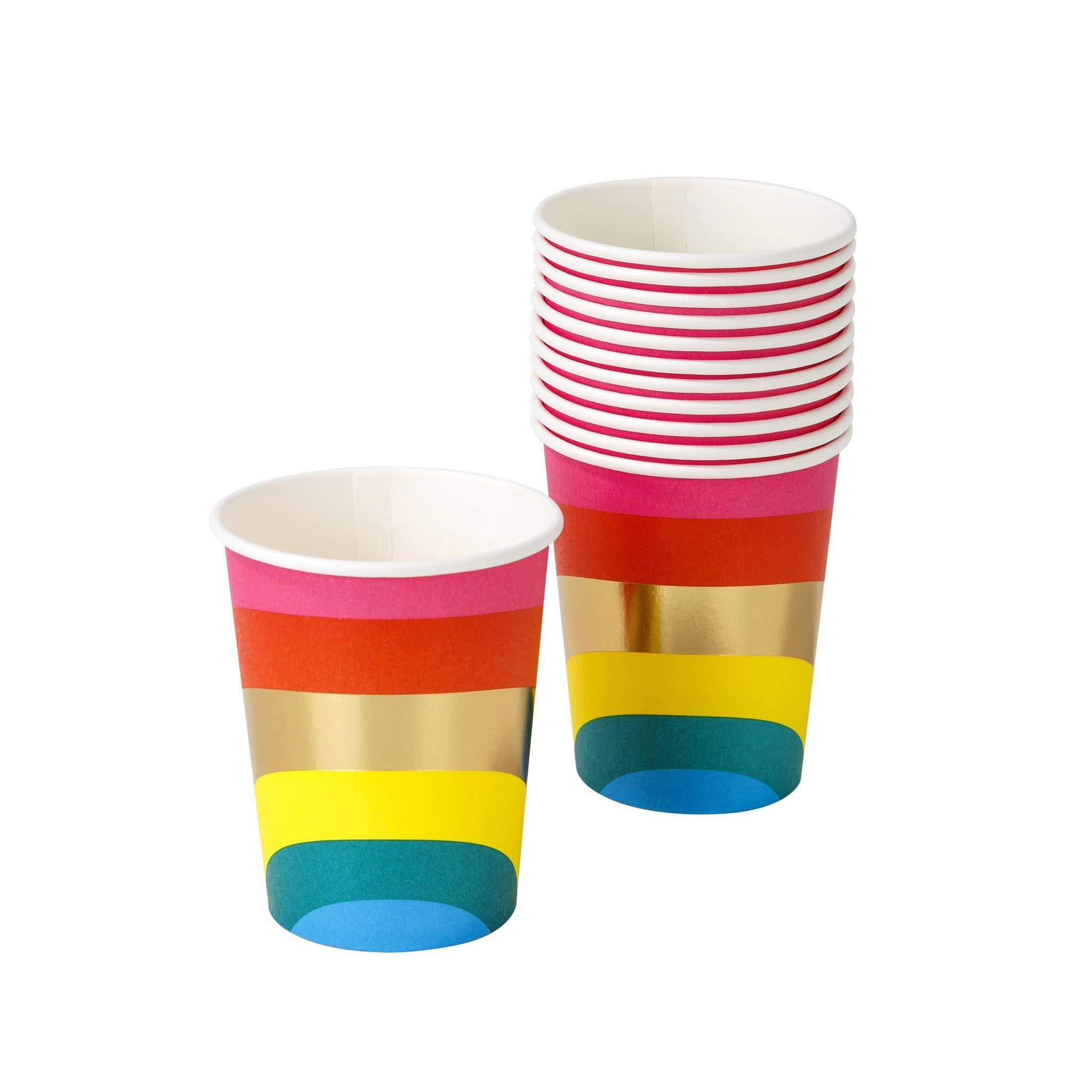 Talking Tables Rainbow Paper Party Cups x 12 - Partyware