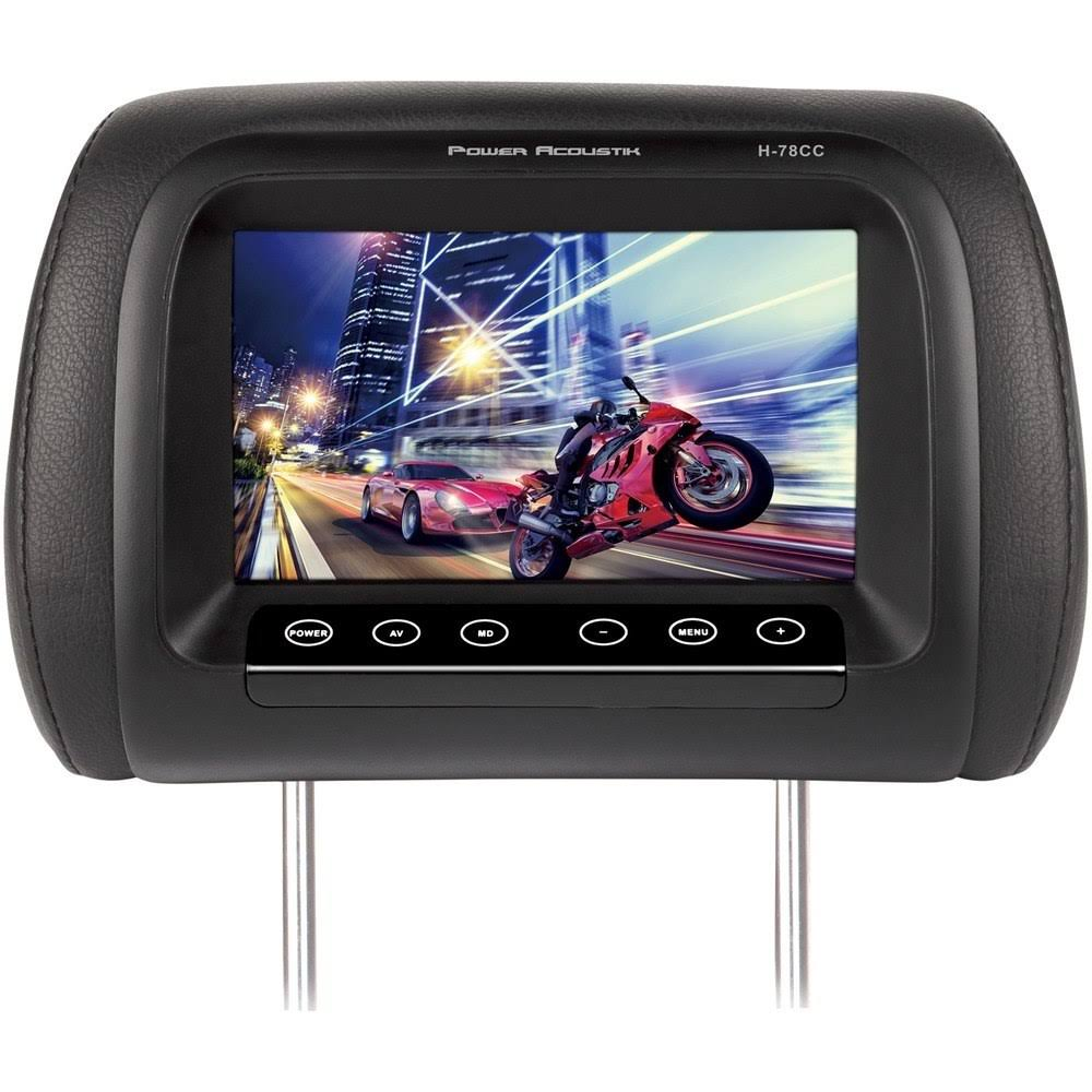 Power Acoustik H-78Cc Headrest Monitor - Black, 7""