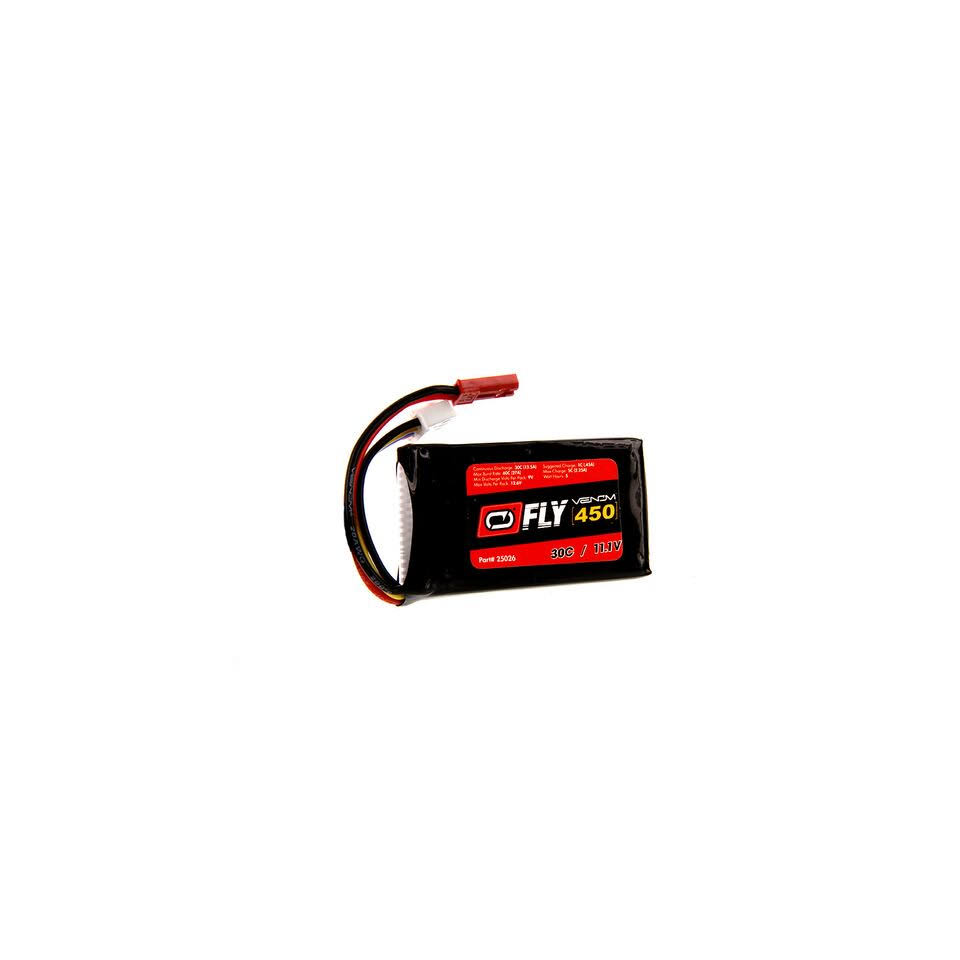 Venom Fly 30C 3S LiPo Battery - 450mah, 11.1v, with JST Plug