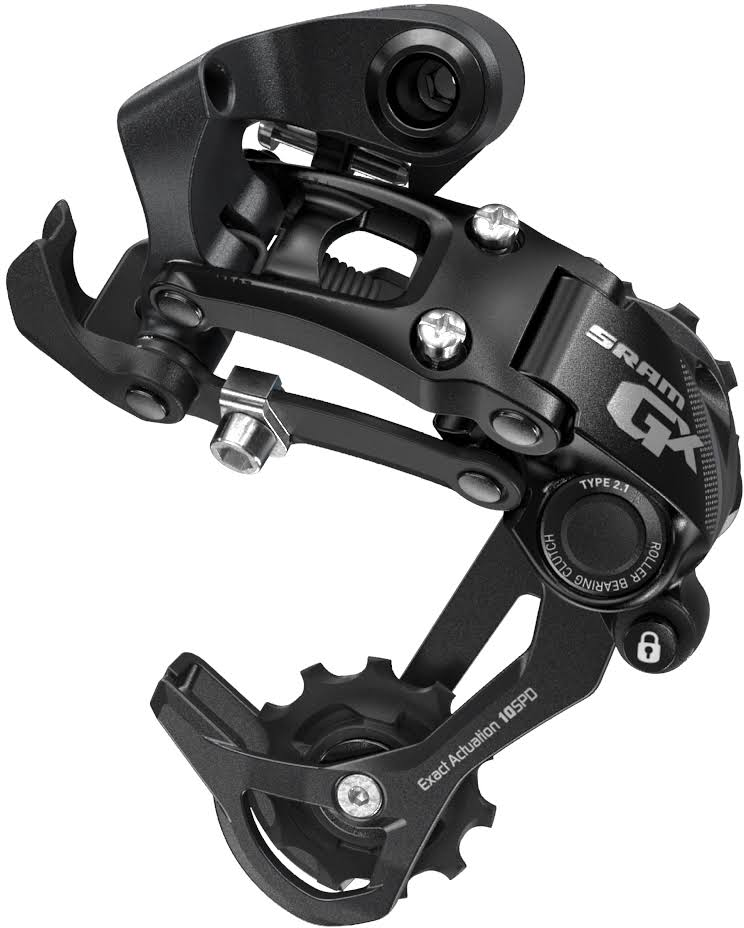 SRAM GX Type 2.1 Bicycle Rear Derailleur with 10-Speed Long Cage - Black