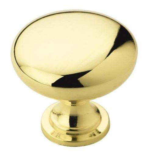 Amerock Allison Round Cabinet Knob Polished Brass