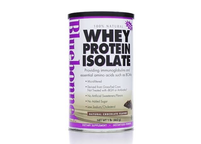 BlueBonnet 100% Natural Whey Protein Isolate Powder - Chocolate, 462g
