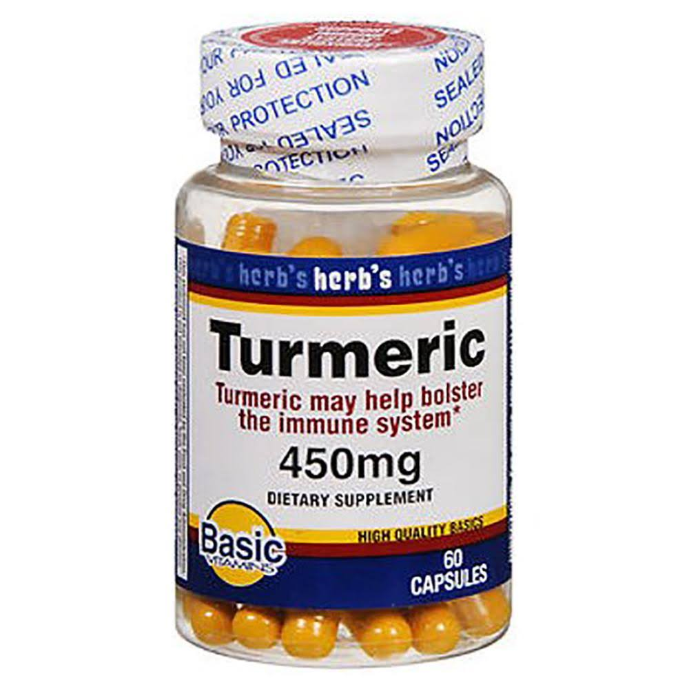 Basic Vitamins Turmeric Vitamins Capsules - 60ct, 450mg