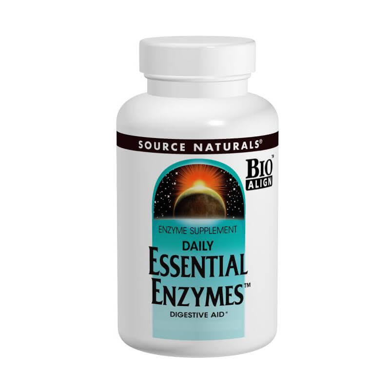 Source Naturals Essential Enzymes 500mg Capsules - x120