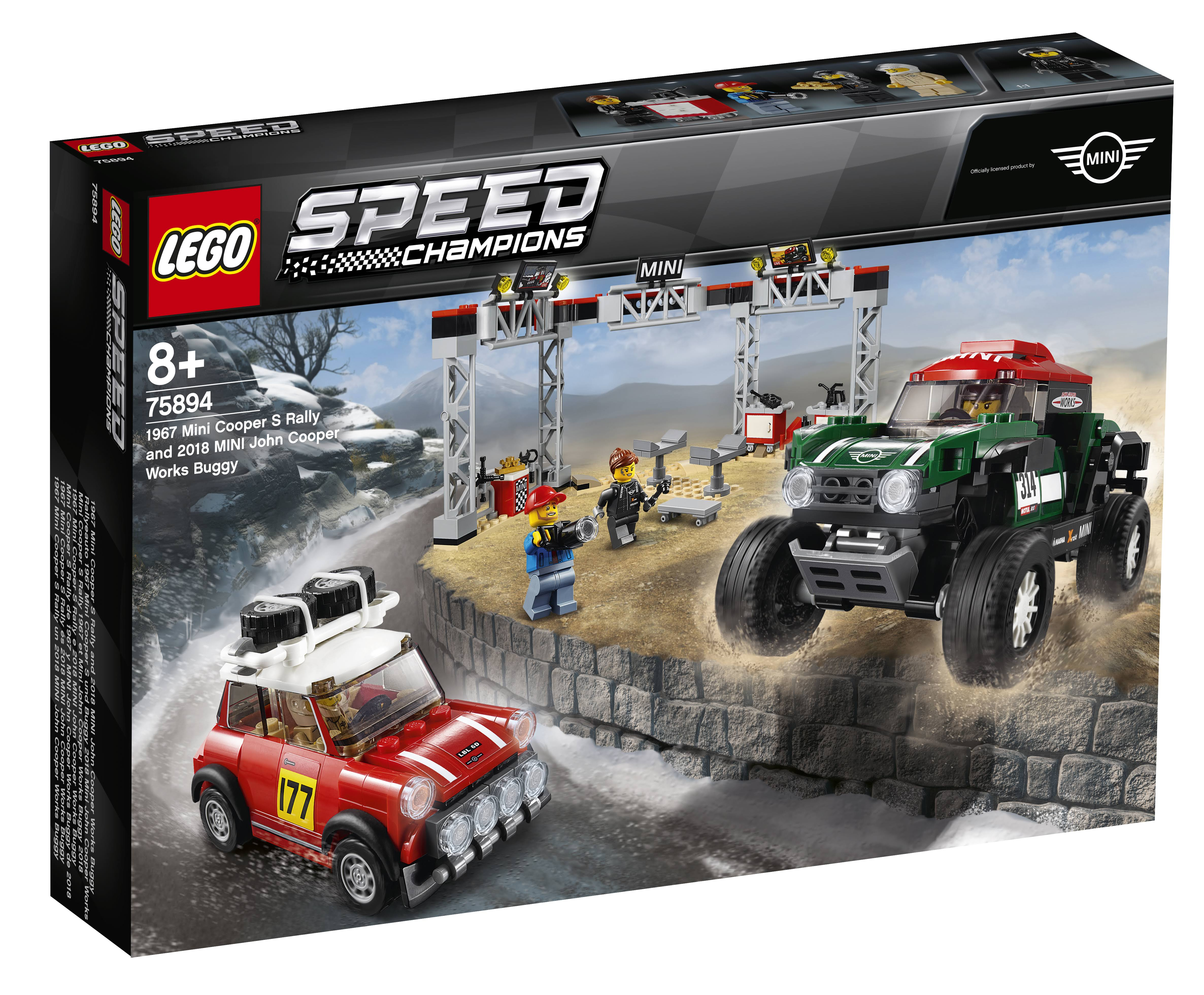Lego 75894 Speed Champions Mini Cooper S Rally and Mini John Cooper Blockset