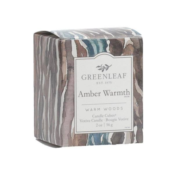 Greenleaf Gifts Amber Warmth Candle Cube Votive
