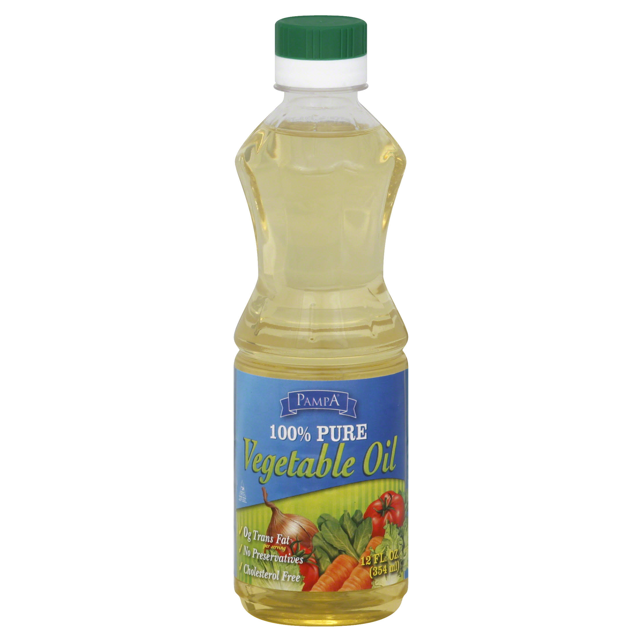 Pampa Vegetable Oil, 100% Pure - 12 fl oz