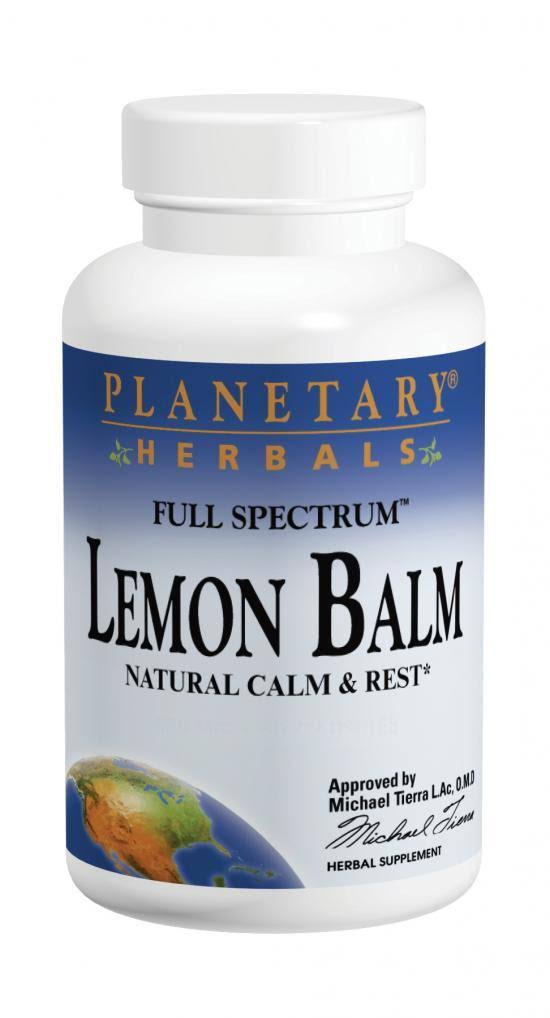 Planetary Herbals Lemon Balm Full Spectrum Supplement - 60ct