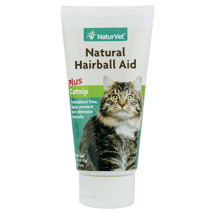 NaturVet Natural Hairball Aid Plus Catnip Gel - 85g