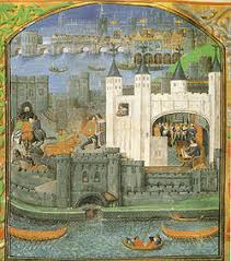 Tower of London from an illuminated manuscript