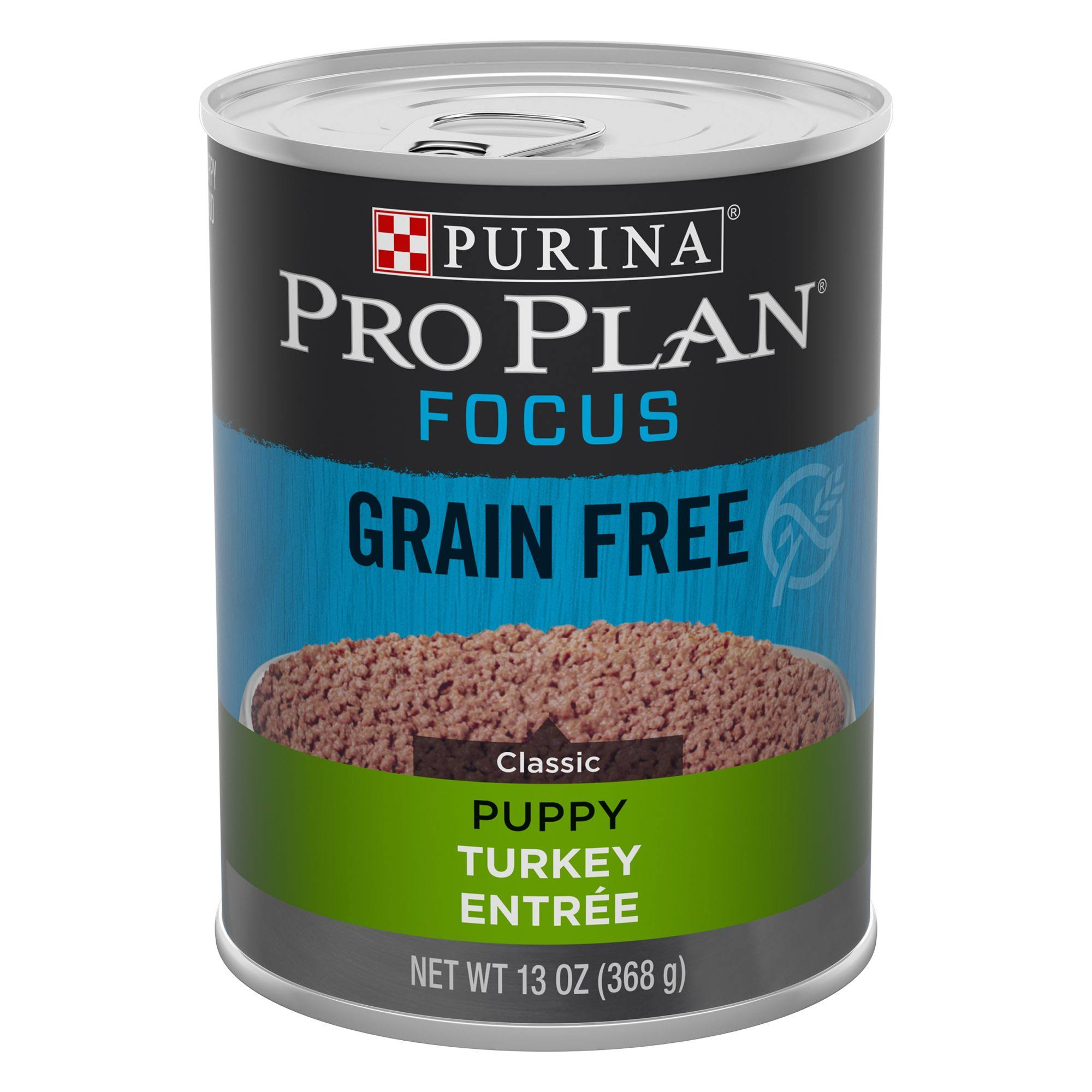 Purina Pro Plan Grain Free, High Protein Wet Puppy Food, Focus Classic Turkey Entree - 13 oz