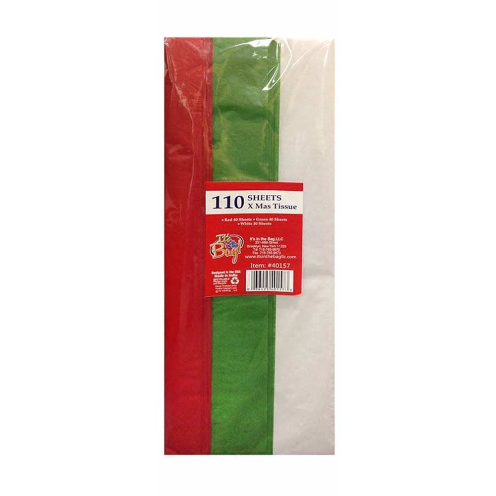 Bulk Christmas Tissue Paper | Package of 110 | Red