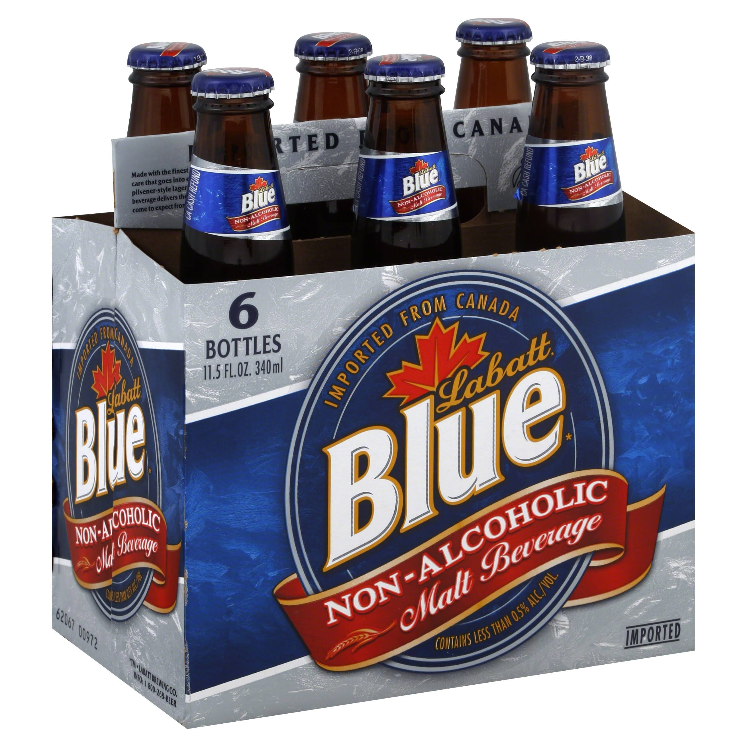 Labatt Blue Non-Alcoholic Malt Beverage - 6pk, 12oz