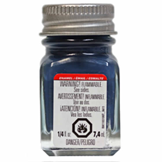 Testors Enamel Paint - Flat Sea Blue