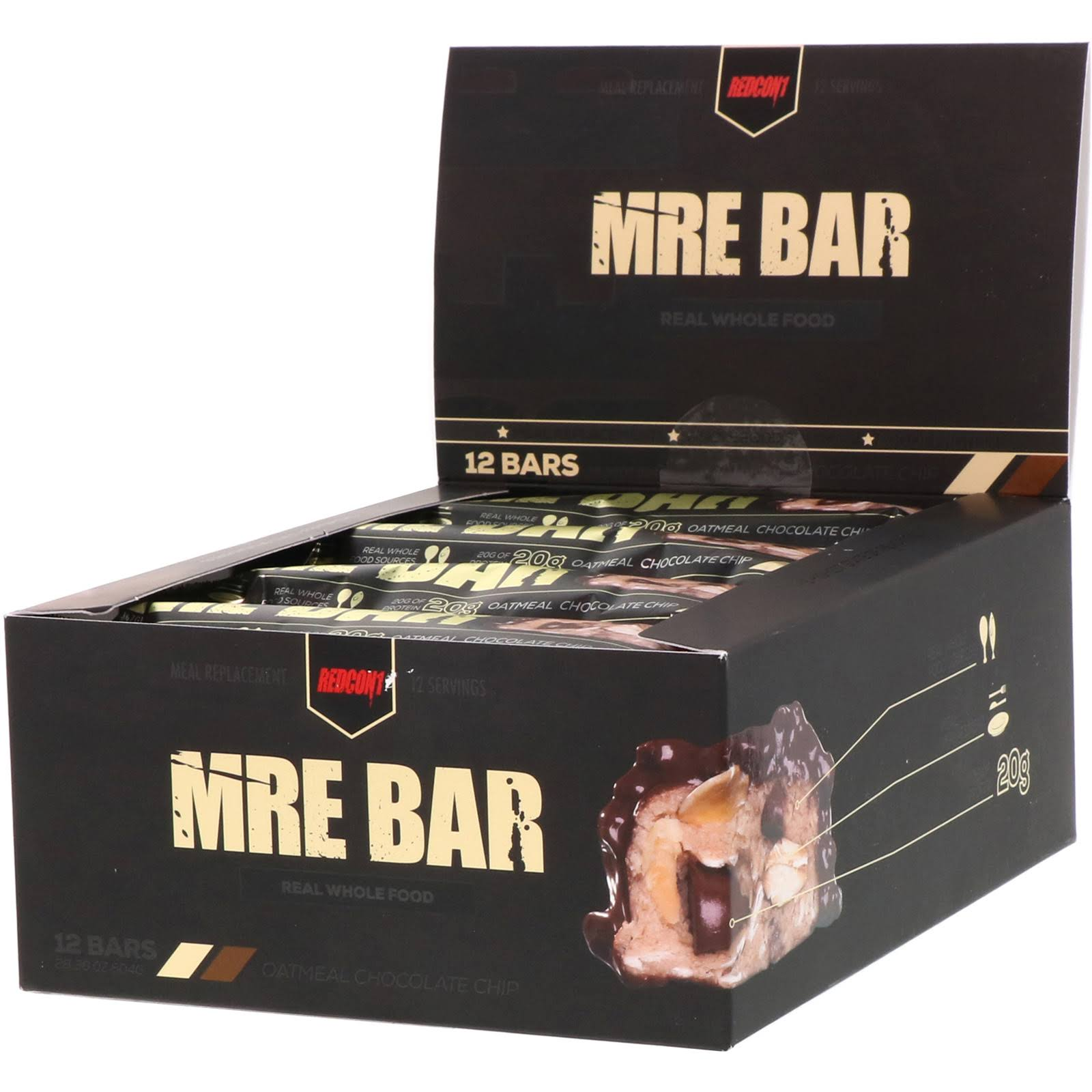 Redcon1 MRE Bar - 12 Bars Oatmeal Chocolate Chip