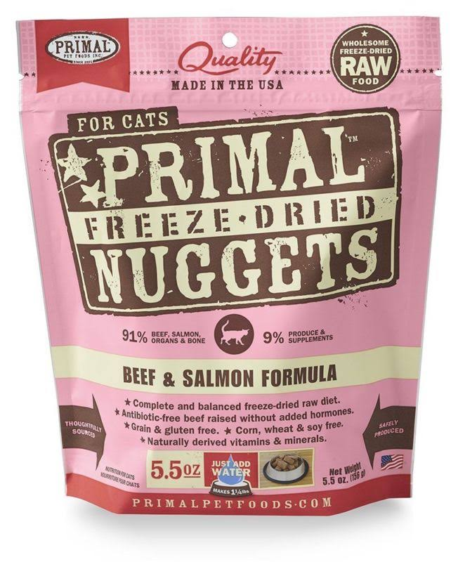 Primal Freeze Dried Formula Cat Food - Beef & Salmon, 156g