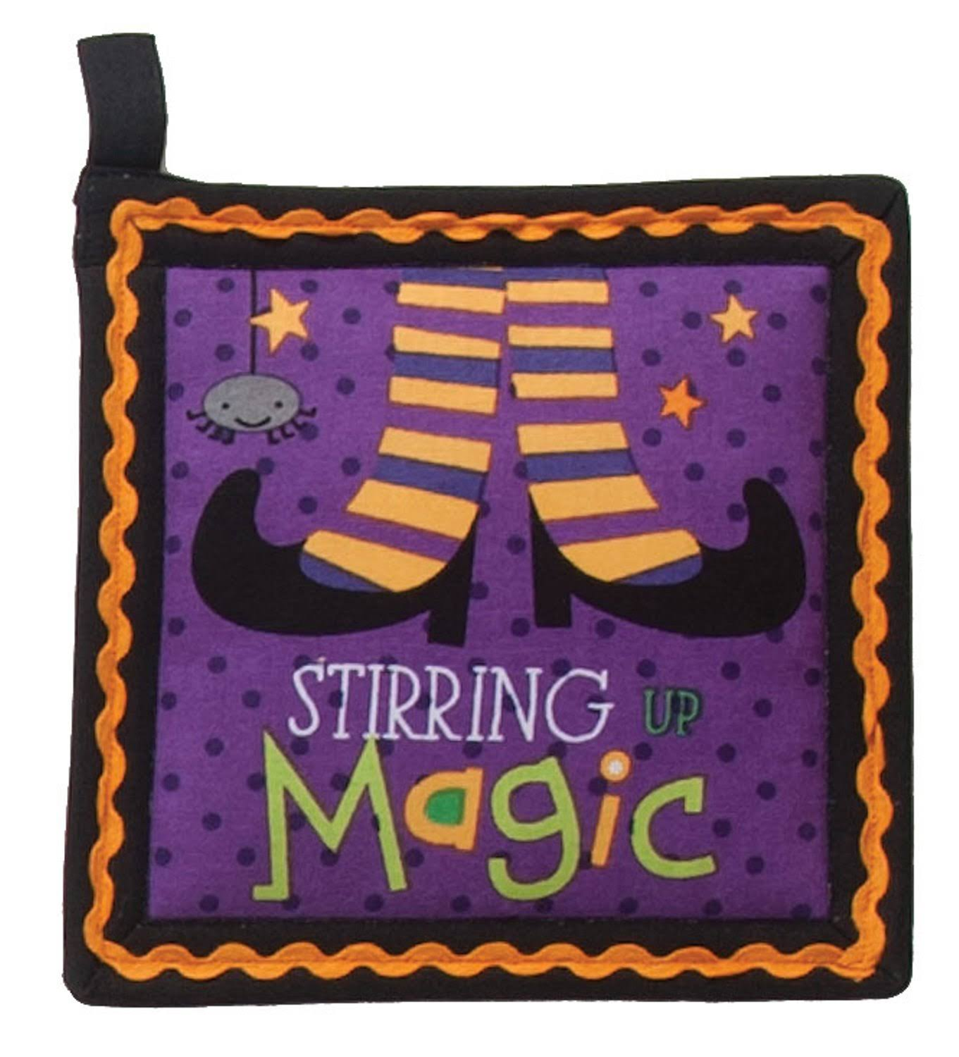 Kay Dee Halloween Stirring Magic Purple Kitchen Pot Holder H5352